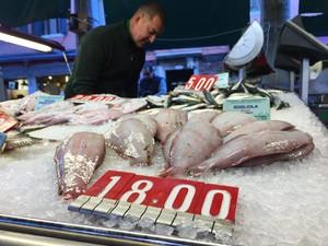 Ett fiskstånd i Medelhavet